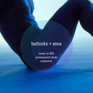 buttocks anus crack balls permanent hair removal for men in Paddington, Sydney