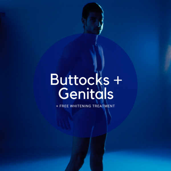 genital and buttocks, crack and sack, balls, permanent hair removal with laser for men Paddington Sydney