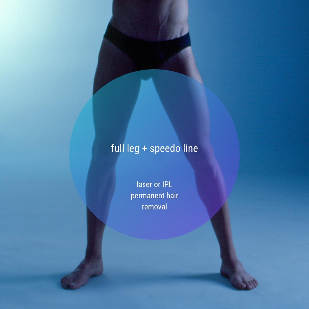 Full Leg + Speedo Line Permanent IPL or laser Hair Removal